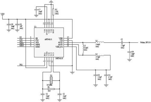 nrf24l01射频模块,128×64液晶,8×8键盘,mega16单片机控制模块组成.