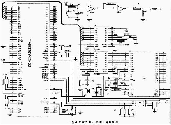 图4为c5402与8031的连接电路图