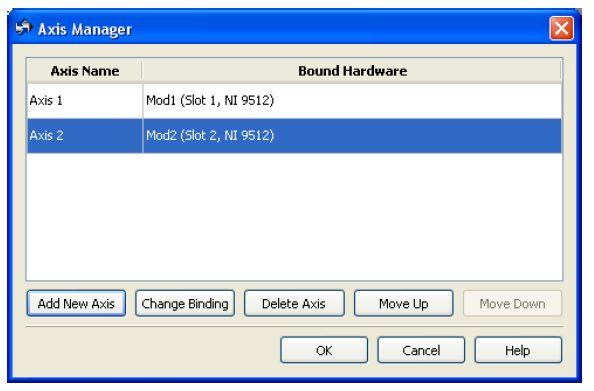 图1:ni softmotion轴管理器对话框