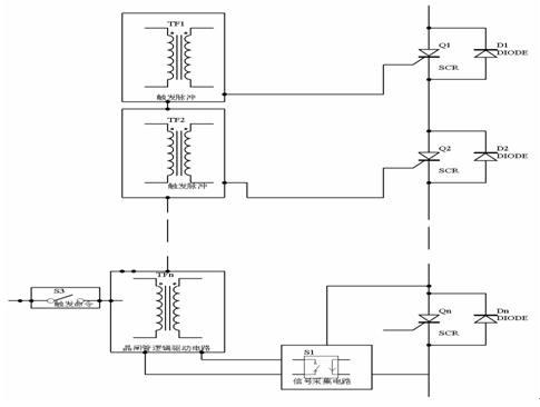 电路    400v电网电压多数采用模块晶闸管,可以采用光电驱动晶闸管