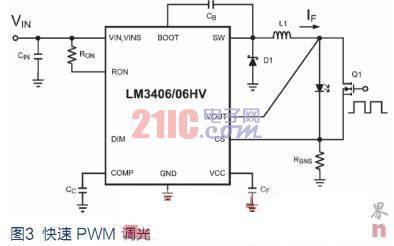 开关模式驱动电路的led调光方法