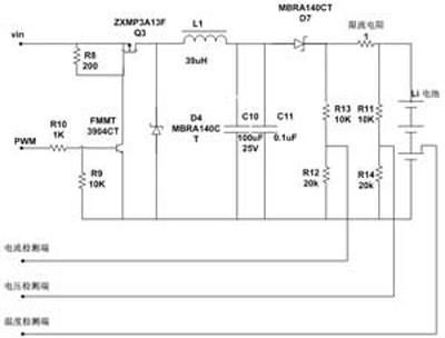 6口检测充电电压的大小,p0.5口检测充电电流的大小,p0.