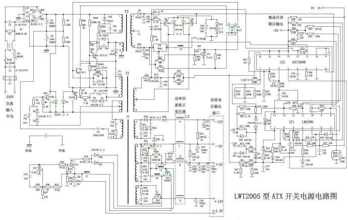 开关三极管击穿以及电源自保护等,因开关电源的电路较简单,故障类型少