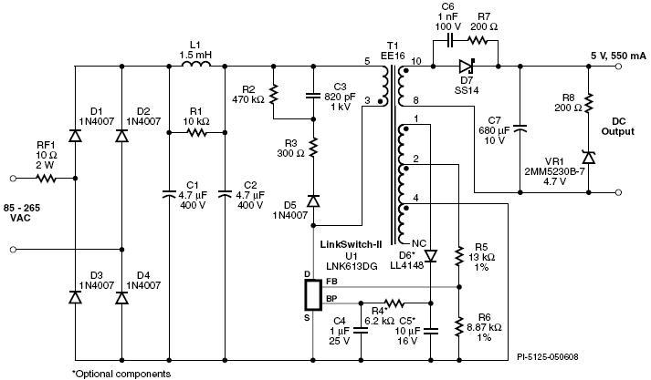 电源技术 分析低成本usb充电器/适配器参考设计与应用      工作原理