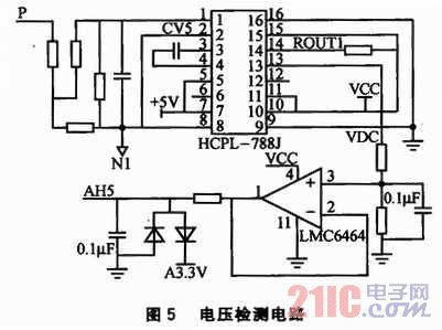 电压检测电路如图5所示.