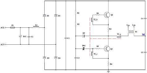 常用电子变压器原理图