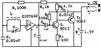 【图】利用简易元器件制作微型收音机通信电路 电路图