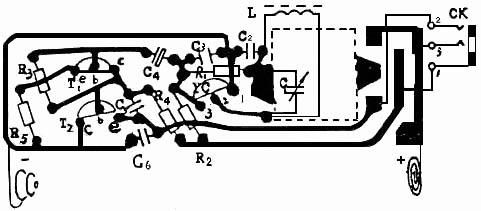 微型收音机电路板