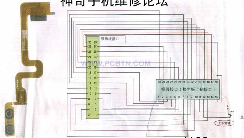 摩托罗拉V680型手机排线实物图