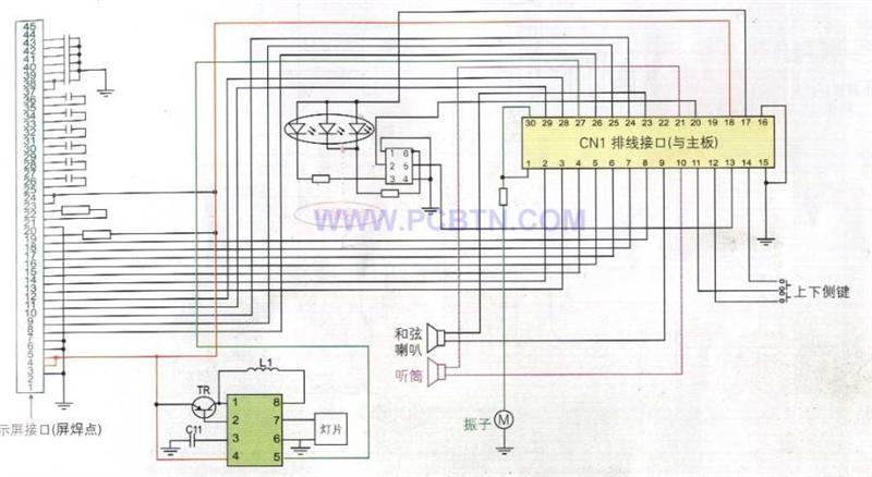 摩托罗拉V680型手机翻盖部分及电路原理图