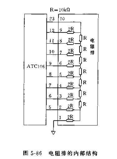电阻排的内部结构