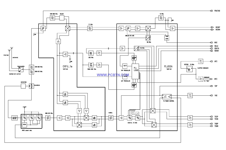 【图】诺基亚6110电路图设计[