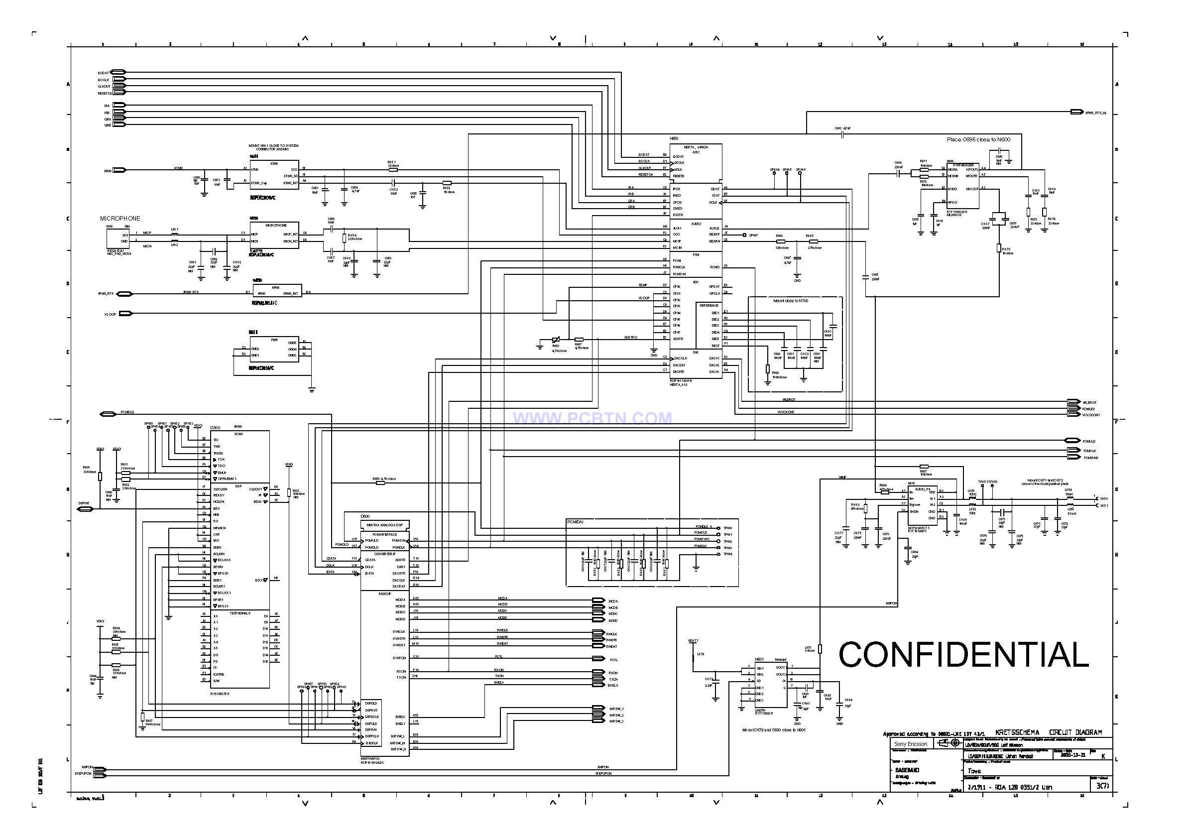【图】索爱t618元件原理线路设计图5[