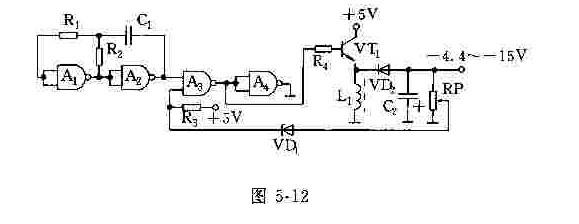 它激式负电压变换器的电路