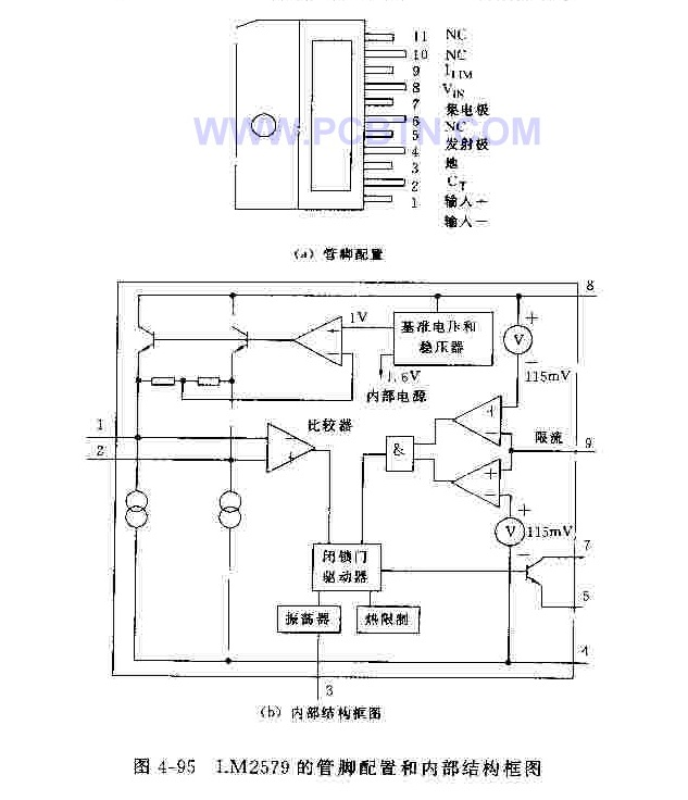 L4970A集成稳压器管脚、结构及应用电路图