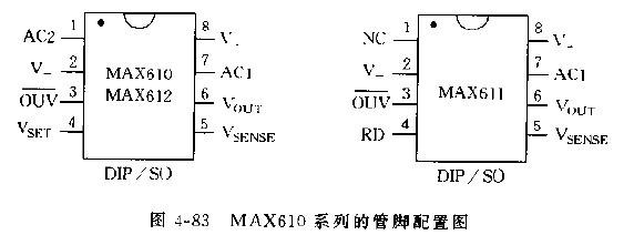 MAX610电源变换电路的特性及管脚配置图