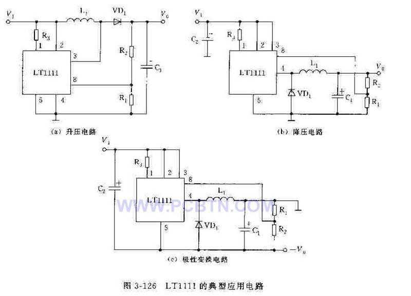 LT1111的高电压输出电路的应用