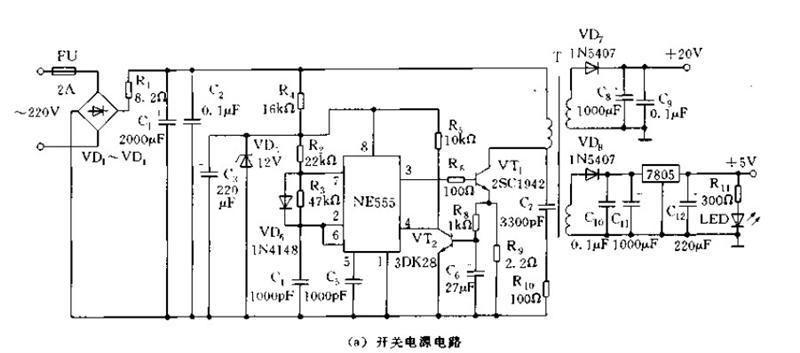 CD4017实用稳压开关电源电路