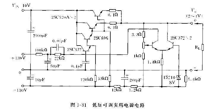 管构成的可调 低压差 稳压稳流稳压器电路图电源电路 电路图 捷配电图片