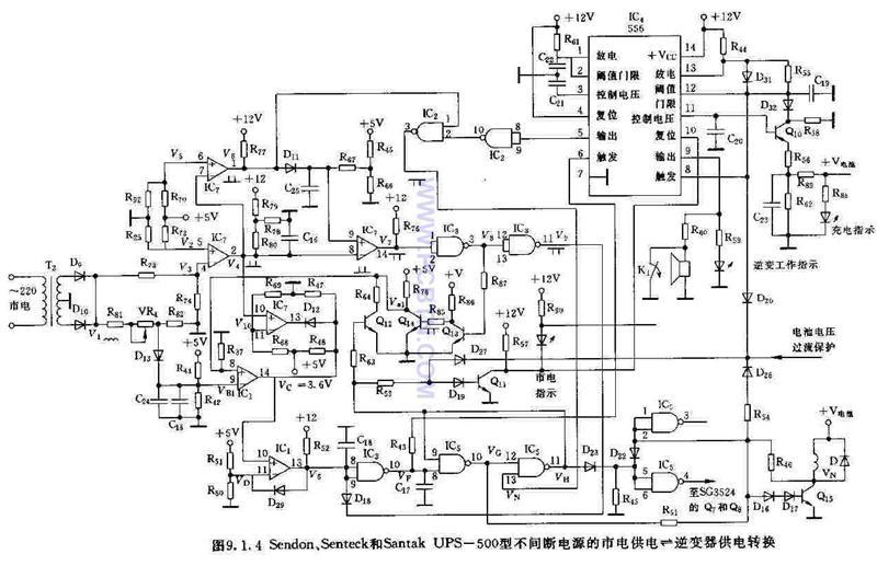 【图】senteckups500型不间断电源市电供应电源电路