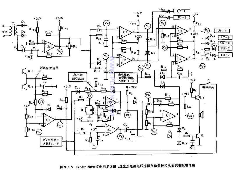 Sendon50HZ市电同步回路电路
