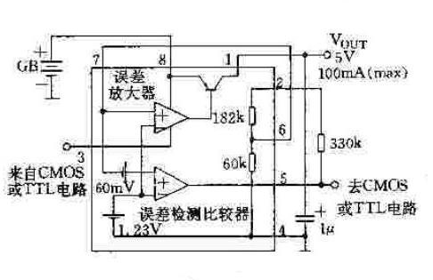 【图】微功耗低压差可调集成稳压器(ud-03)电源电路