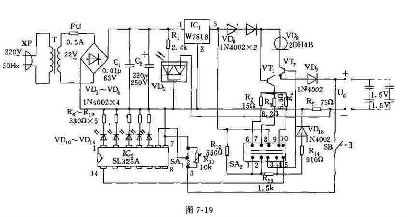 9-60v输入,5v/2.1a双端口智能usb充电器电路图