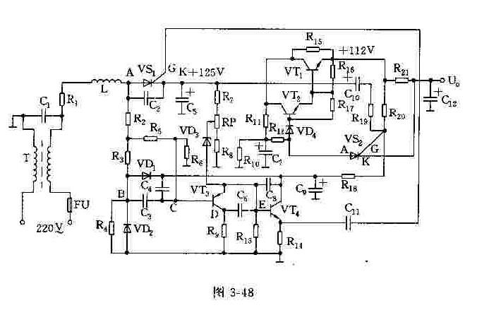 彩电晶闸管式开关电源