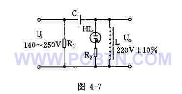 简易磁饱和交流稳压器