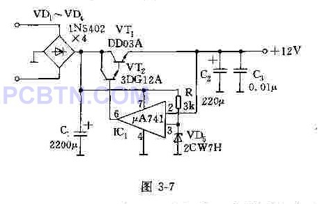 12V开关直流电源的电路图片