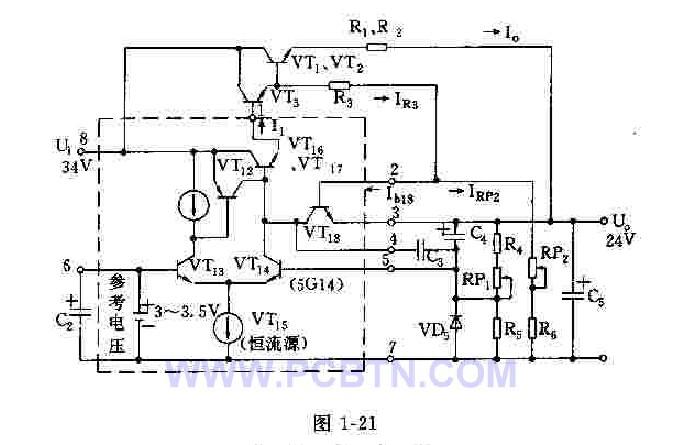 5G14集成块稳压电源