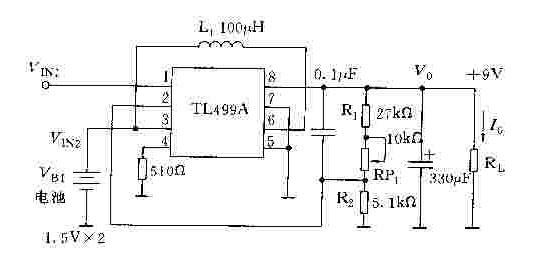 由TL499A构成的电池后备电源电路