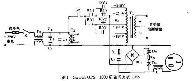 首页 电路图 电源电路 >> sendon 1000va级ups-1000后备式方波输出ups