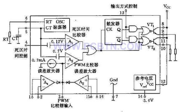 【图】基于tl494的pwm控制电路电源电路