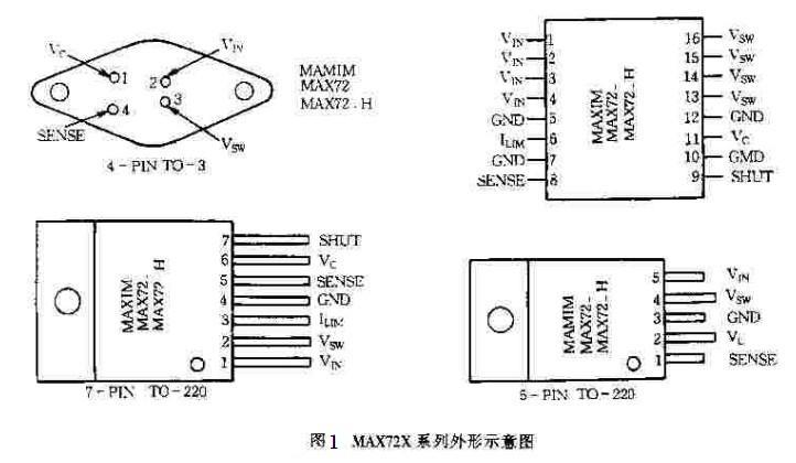 新型单片降压MAX727系列DC-DC变换器