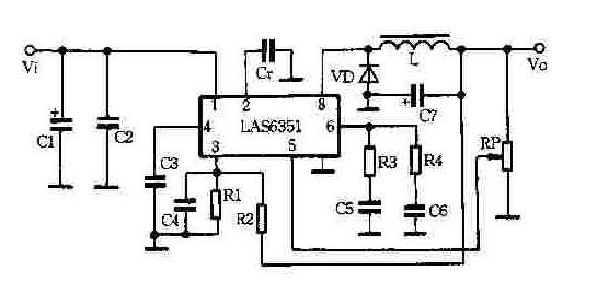 用LAS6351构成的大电流高效开关稳压电源