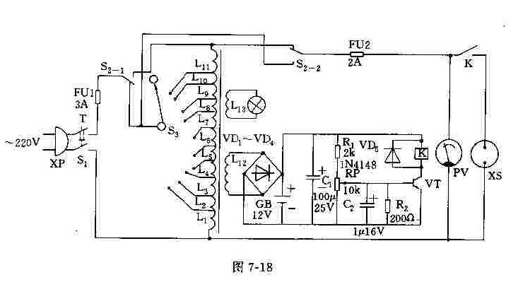 【图】双刀双掷变压器电源电路 电路图 维库电子市场网