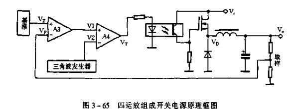 四运放LM324组成开关电源的原理、波形及实际电路图