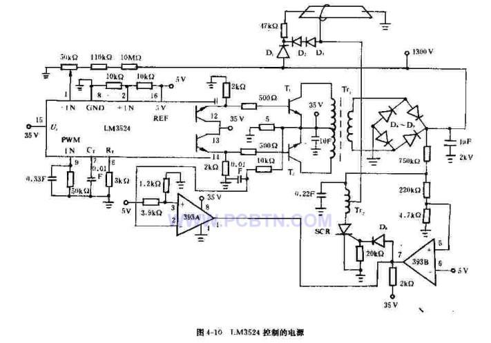 LM3524控制的电源