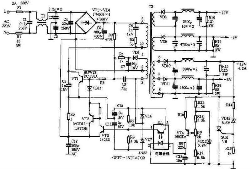 新型苹果机稳压电源电路图