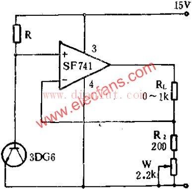 采用sf741的可调式恒流源电路-电源电路-捷配电子市场