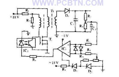 反激式VMOS管充电电路