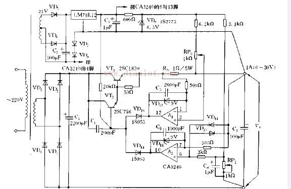 基于运放CA3240控制的恒压恒流电路