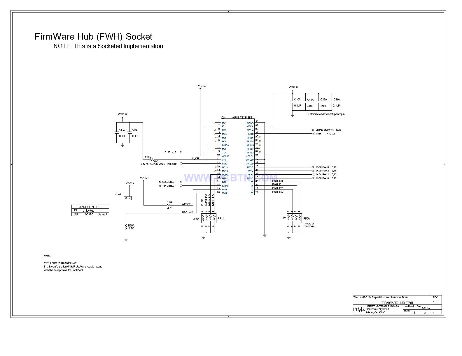 810E电脑主板专业电路图