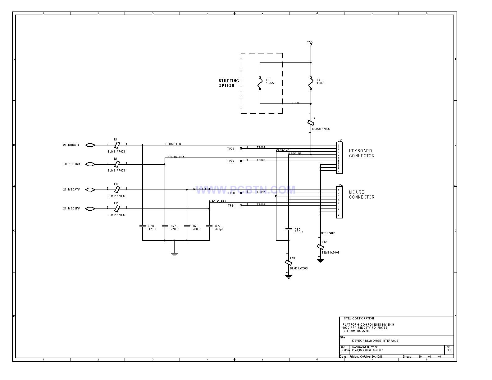 电脑主板设计图440GX[_]30