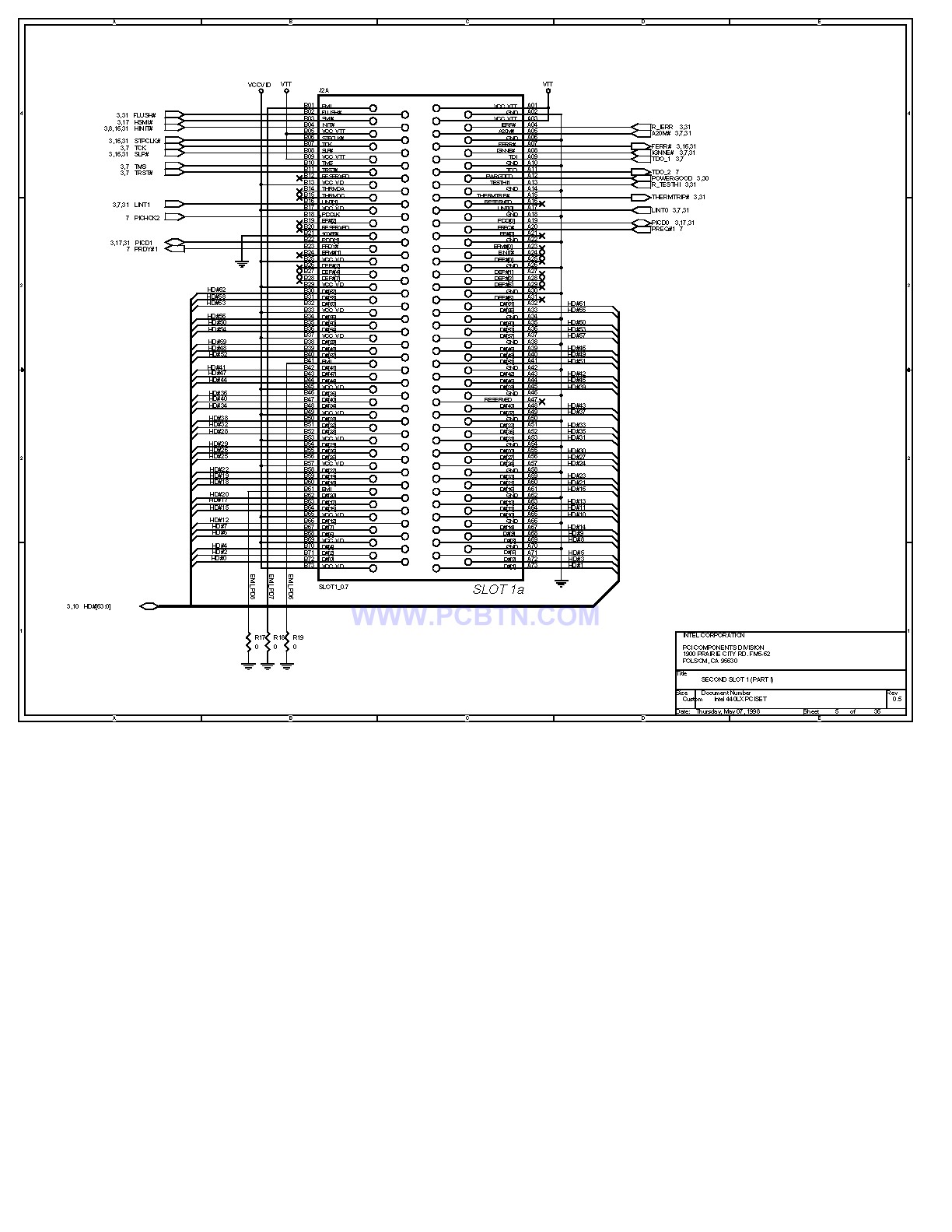 电脑主板设计图440LX[_]05