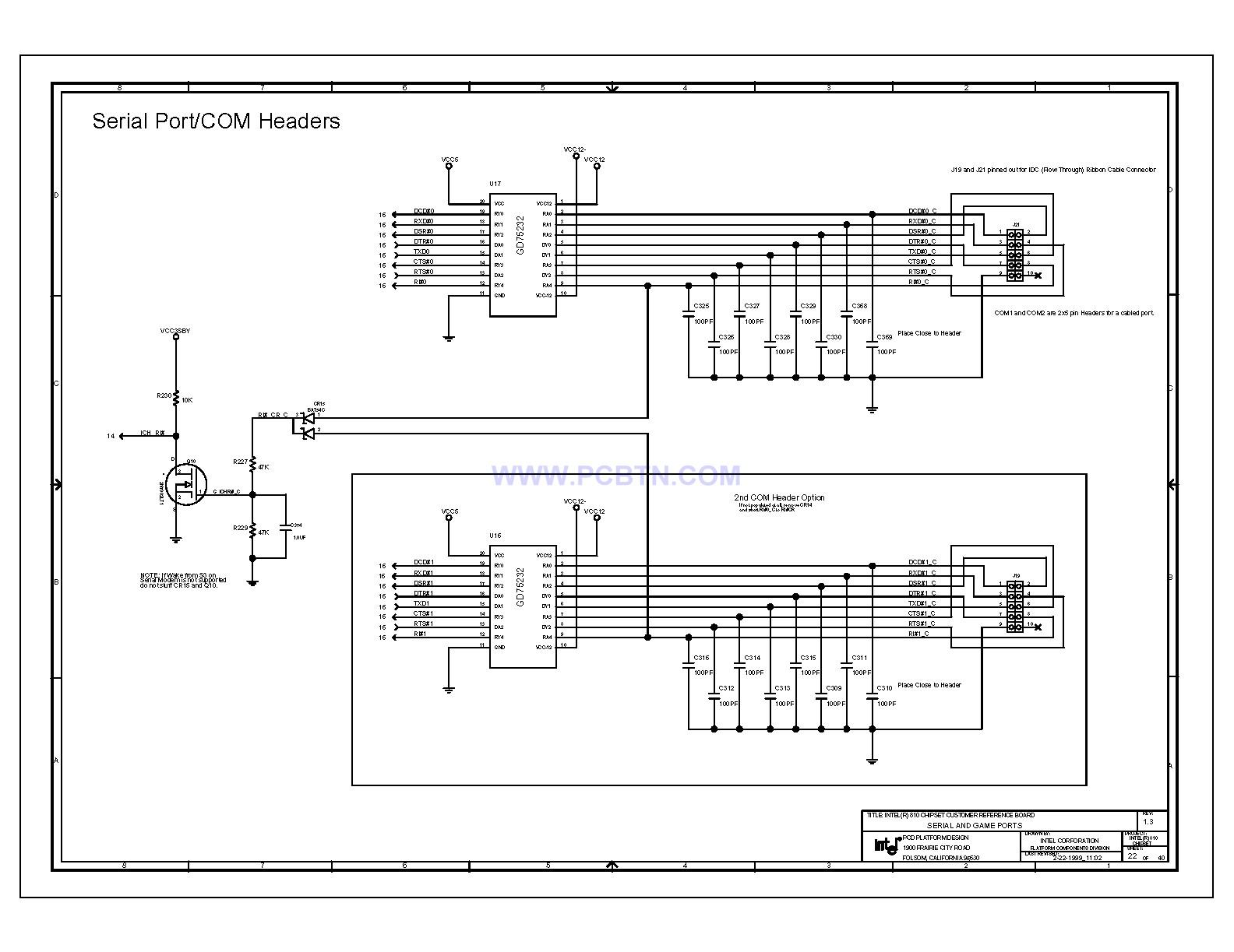 【图】电脑主板电路图810芯片组微机单片机 电路图 捷