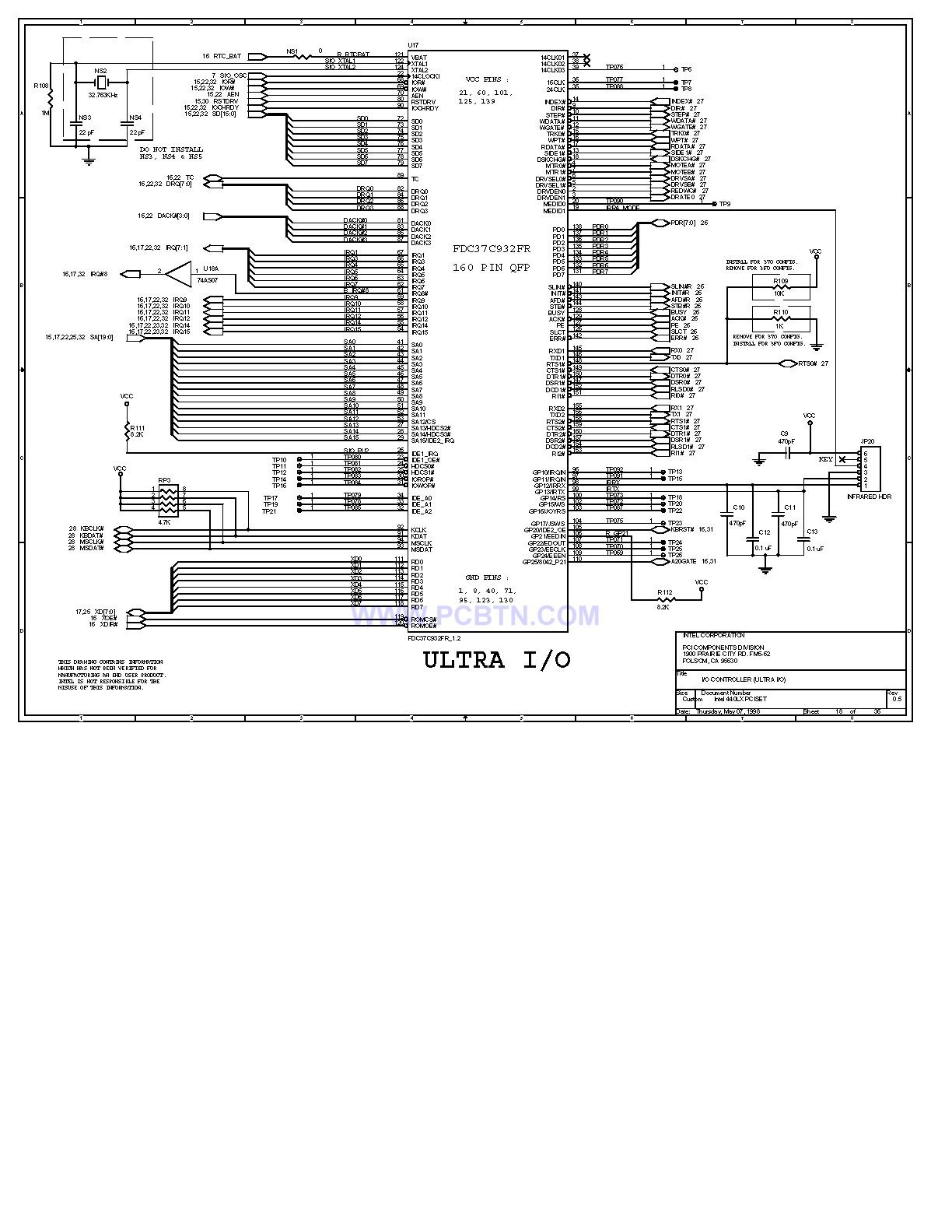 电脑主板设计图440LX[_]18