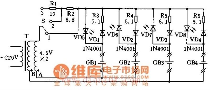 简单充电器电路图图片