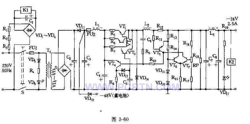 负24V稳压电源电路